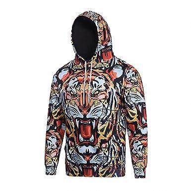 Crochi Fashion Couple Men/women Hoody Hoodies Full Print Fierce Tiger Autumn Winter 3d Hooded