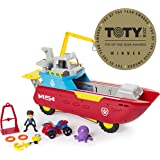 Nickelodeon Paw Patrol Sea Patrol - Sea Patroller Transforming Vehicle with Lights & Sounds, Ages 3 & Up