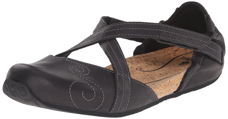 Ahnu Women's Karma Latitude Leather Ballet Flat B00ZUYA1V4 6 B(M) US|Black