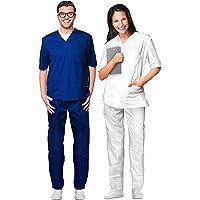 AIESI® Uniforme Sanitario Hombre Mujer de algodón 100%