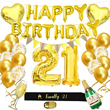 21st Birthday Party Decorations Kit