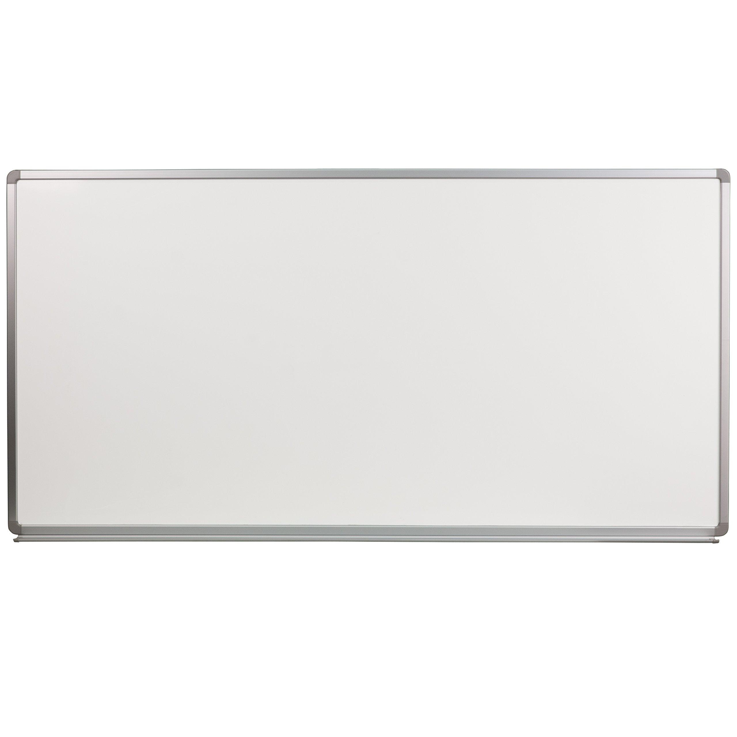 Flash Furniture 6' W x 3' H Porcelain Magnetic Marker Board