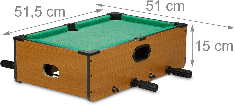 Relaxdays Mesa Multijuegos 6 en 1 Futbolín, Billar, Ping Pong ...
