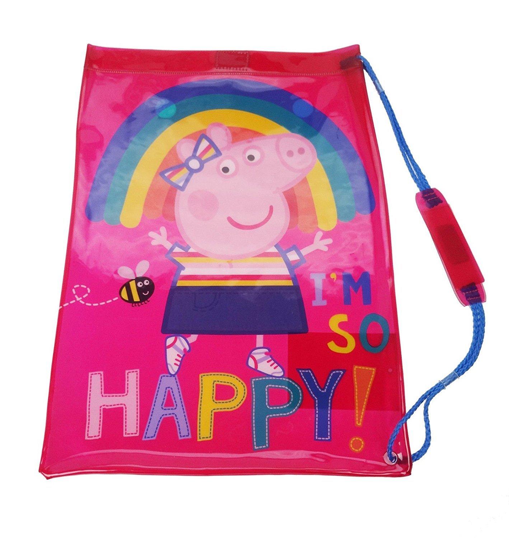 Peppa Pig PVC Swim Bag Gym Tote, 42 cm, Pink