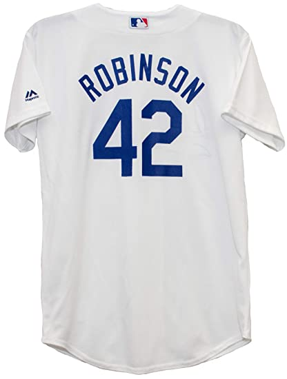 Majestic Jackie Robinson Brooklyn Dodgers  42 Youth Cool Base Home Jersey  (Youth Medium 10 16745e32338