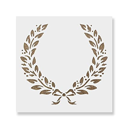 Laurel Wreath Stencil Template For Walls And Crafts