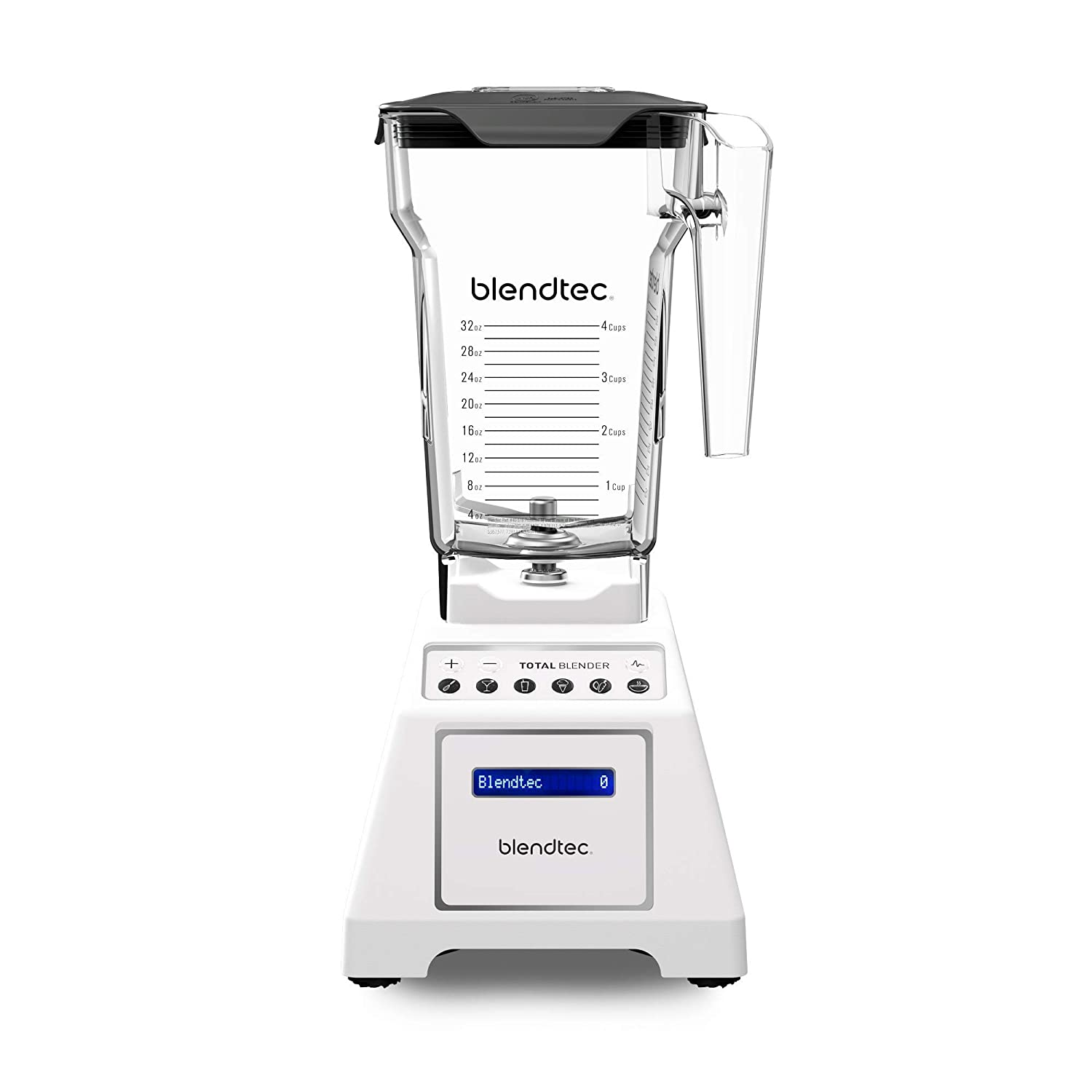 Blendtec Total Classic Original Blender - FourSide Jar (75 oz) - Professional-Grade Power - 6 Pre-programmed Cycles - 10-speeds - White