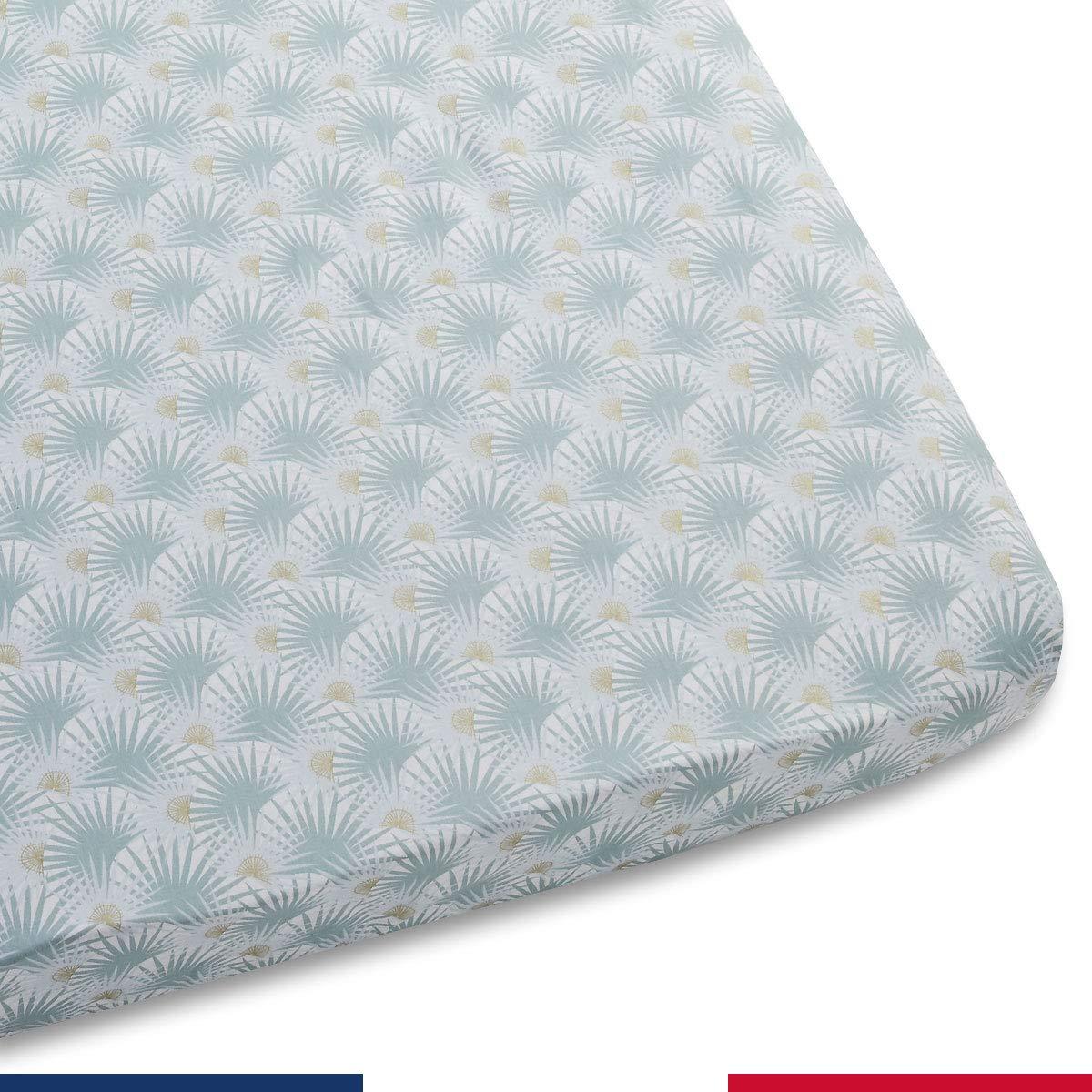 Atelier de Morph/ée Drap Housse pour Bebe Tropico 40x80 Ovale