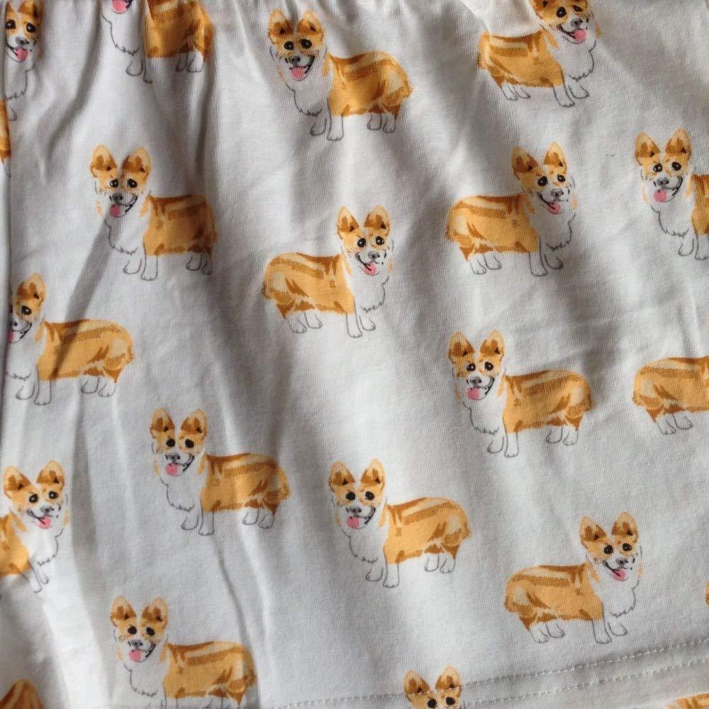 Amazon.com  Lessonmart Pajama Shorts Women Cute Dog Print Corgi Cotton  Elastic Waist Stretchy Sleep Bottoms Pijama Mujer S-XXL B78401 P  Kitchen    Dining 7930e16a9