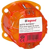 Legrand 090505 Boîte à encastrer Batibox 1 poste, Orange