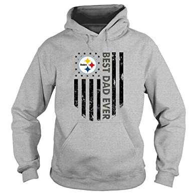 183e5fe5 NJERSTORE Pittsburgh Steelers T Shirt, Best Dad Ever T Shirt - Hoodie (S,