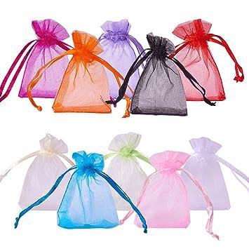 PandaHall-Regalo Bolsas de Organza , color mixto, 7x5x0.2cm ...