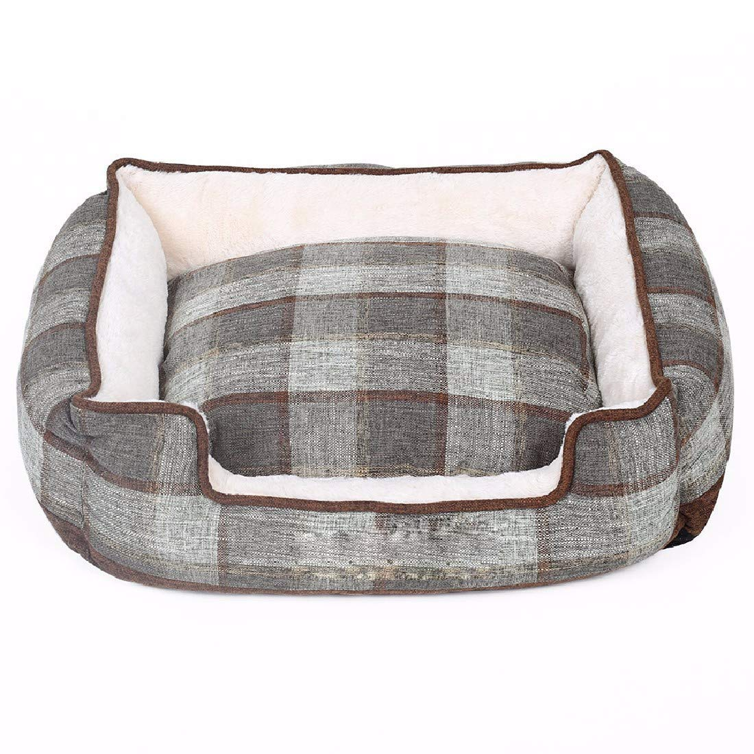 Gperw Pet Dog Cat House Bed Dogs small dogs puppies four seasons can be disassembled and washed warm winter nest Non Slip Cushion Pad