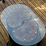 """28"""" x 54""""  Racetrack Oval Glass Table Top"""
