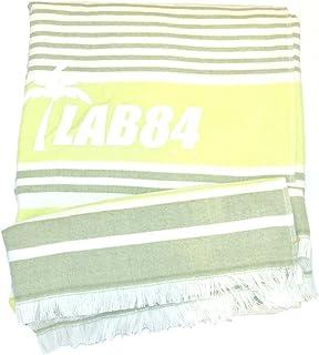 LAB84 Serviette Fouta + éponge, citron vert