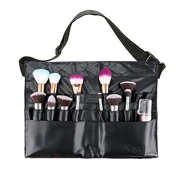 6b003ef8fb61 Makeup Brush Bag Professional Cosmetic Holder 28 Pockets Organizer with  Artist Belt Strap...
