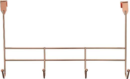 Gold Iron Wire 10 x 40 x 25 cm Premier Housewares 4 Hook Over Door Hanger