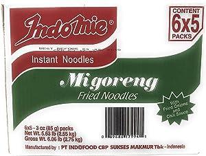 Indomie Mi Goreng Instant Stir Fry Noodles, Halal Certified, Original Flavor, 3 Ounce, Pack of 30