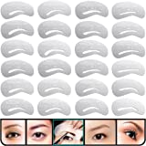 KINGMAS 24 pcs Eyebrow Stencils Reusable Eyebrow Drawing Guide Card Brow Shaping Template DIY Makeup Tools