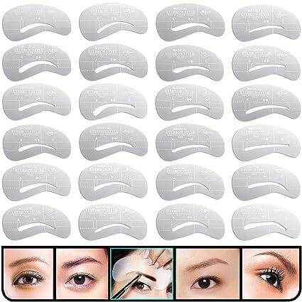 Buy Kingmas 24 Pcs Eyebrow Stencils Reusable Eyebrow Drawing Guide
