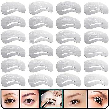 Amazon kingmas 24 pcs eyebrow stencils reusable eyebrow kingmas 24 pcs eyebrow stencils reusable eyebrow drawing guide card brow shaping template diy makeup tools maxwellsz