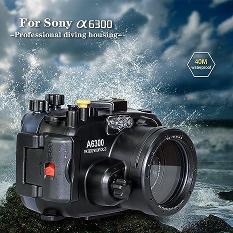 Arandelas de mar para cámara submarina Sony A6300 A6400 Sumergible ...