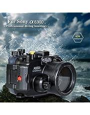 130 FT/40 m Unterwasser Kamera Tauchen Wasserdichtes Gehäuse Fall Für Sony A6300