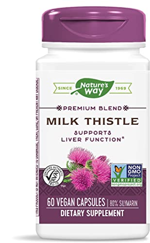 Nature s Way Premium Extract Standardized Milk Thistle 80 Silymarin, 60 Capsules