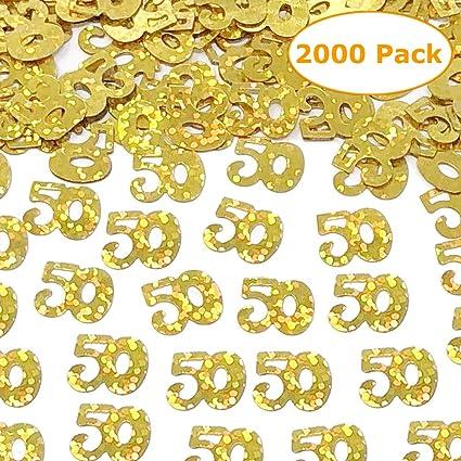 Amazon.com: Confeti de confeti para 50 cumpleaños, 2000 ...
