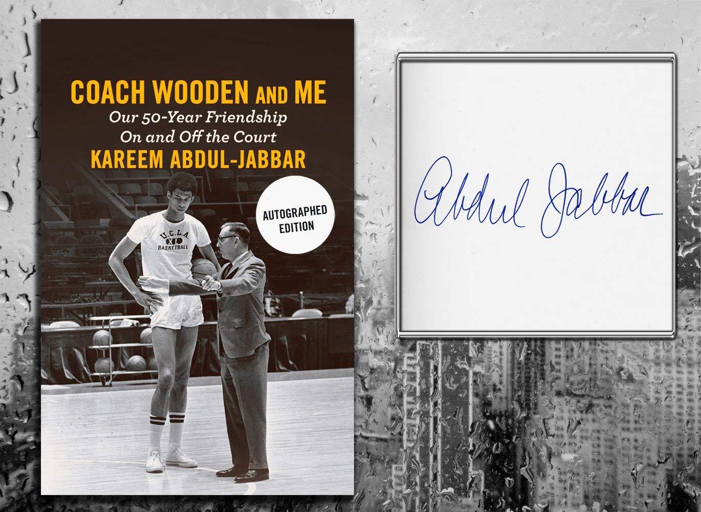 Kareem Abdul Jabbar COACH WOODEN & ME Signed Hardcover Book