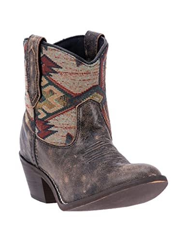 Women's Leather Micah Western Boot Round Toe - 51027