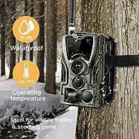 SDGDFXCHN Wildkamera mit Bewegungsmelder, Nachtsicht 16MP 1080P Full HD Wildtierkamera mit Infrarot IP65 Wasserdicht Beutekameras für Tierbeobachtung Haussicherheitsüberwachung