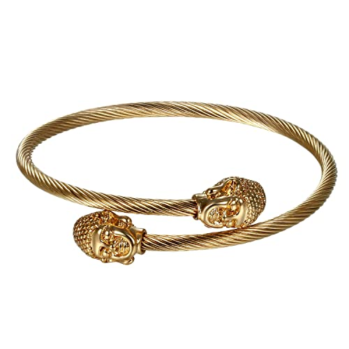 JewelryWe Schmuck Herren Damen Armband, Elegant Gegenüber Buddha ...