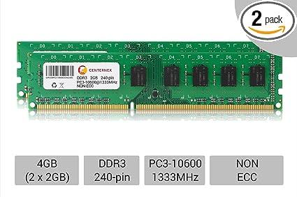 4GB 2X 2GB PC3-10600 Dell Optiplex 390 790 990 DDR3-1333 HP Pro PC Memory RAM