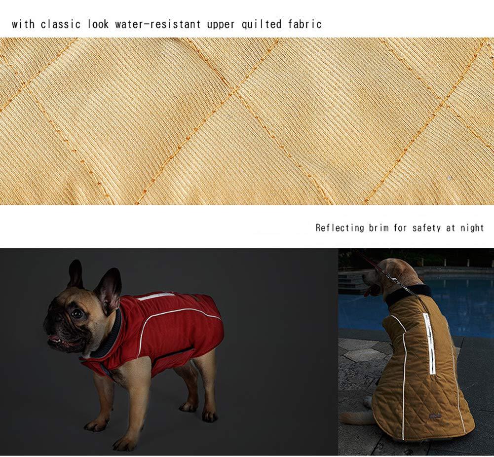 M, Blue ZEEY Dog Coat Vest XS-XXXL Windproof Warm Dog Clothes Retro Design Cozy Winter Dog Pet Jacket Vest Warm Pet Outfit 6 Clothes Colors