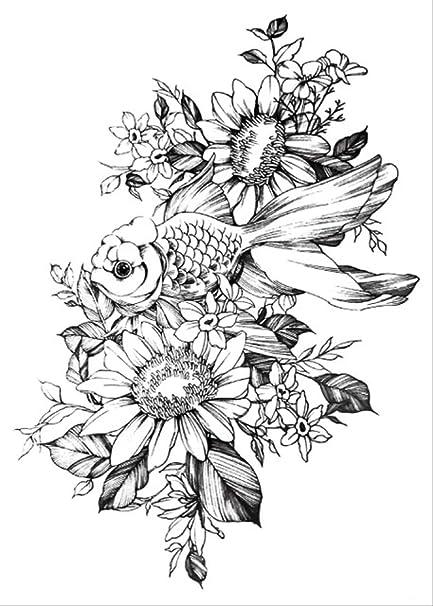 CCWL Moda Creativa Negro Boceto Tatuaje Pegatina Caballo Lobo ...