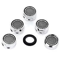 VABNEER 5 piezas Filtro grifo de accesorios de grifo Difusor Filtro grifo de ahorro de agua con junta Para cocina y baño