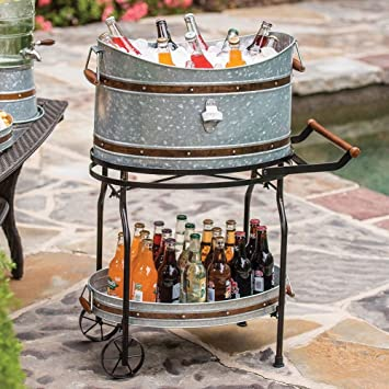 Amazoncom Beverage Tub and Serving Tray with StandRolling Cart