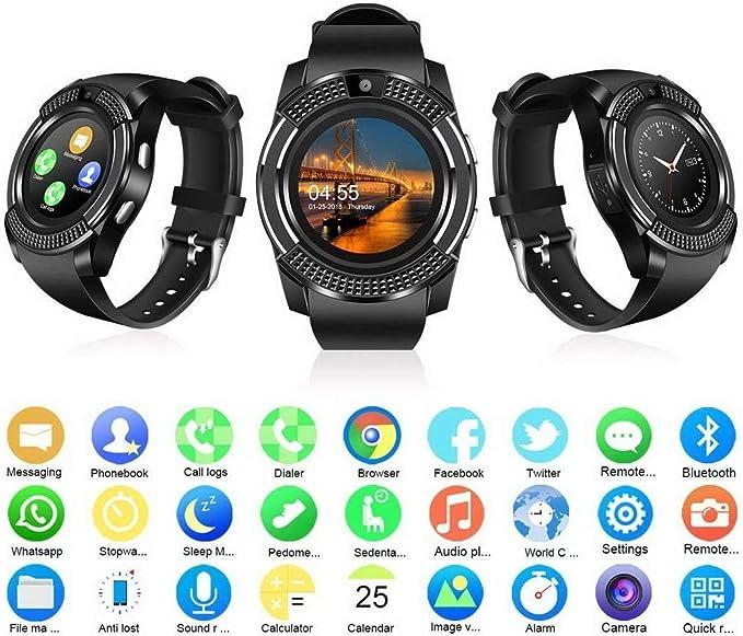 Amazon.com: Erholi - Reloj inteligente con Bluetooth ...