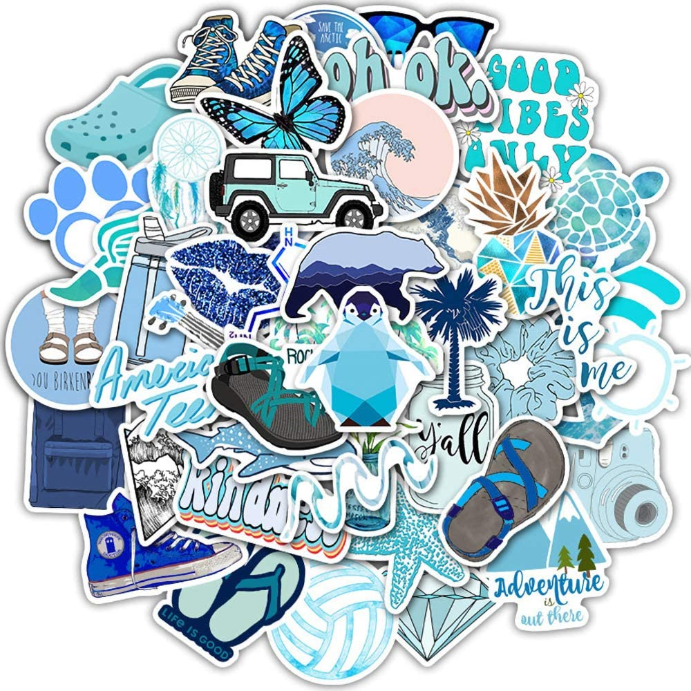 Laptop Stickers Packs VSCO Stickers 50PCS Water Bottles Stickers Cute,Waterproof,Aesthetic,Trendy Stickers for Teens,Girls Perfect for Waterbottle,Laptop,Phone,Travel Case