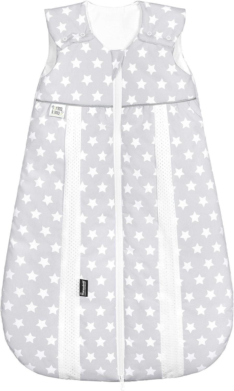 Gr/ö/ße:80 Design:Sterne beige Odenw/älder Prima Klima Thinsulate Schlafsack//Winter Baby-Schlafsack atmungsaktiv///Ärmelloser Au/ßensack waschbar