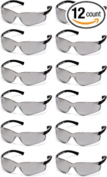 PYRAMEX ZTEC Safety Glasses Clear Lens w// Non-Slip Rubber Temple Tips 12 Pcs