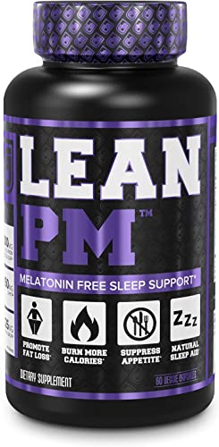 Lean PM Melatonin Free Fat Burner Sleep Aid – Night Time Sleep Support, Weight Loss Supplement Appetite Suppressant for Men and Women – 60 Caffeine Free, Keto Friendly Diet Pills