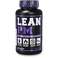 Lean PM Melatonin Free Fat Burner & Sleep Aid - Night Time Sleep Support, Weight Loss Supplement & Appetite Suppressant for Men and Women - 60 Caffeine Free Veggie Weight Loss Diet Pills