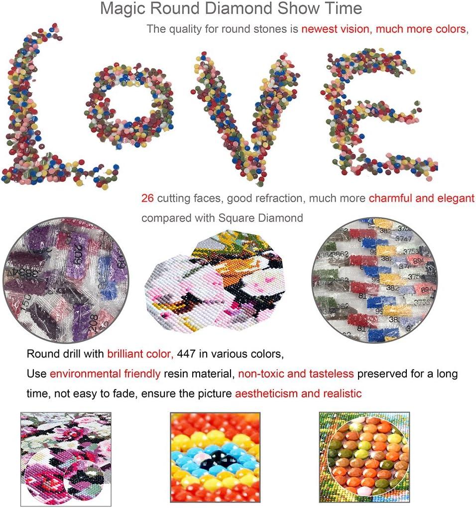 Tree 5D diamante pittura kit punto croce ricamo set completo trapano fai da te fatti a mano in resina strass mosaico paesaggio regalo per le feste con attrezzi per incollare 30 x 40 cm