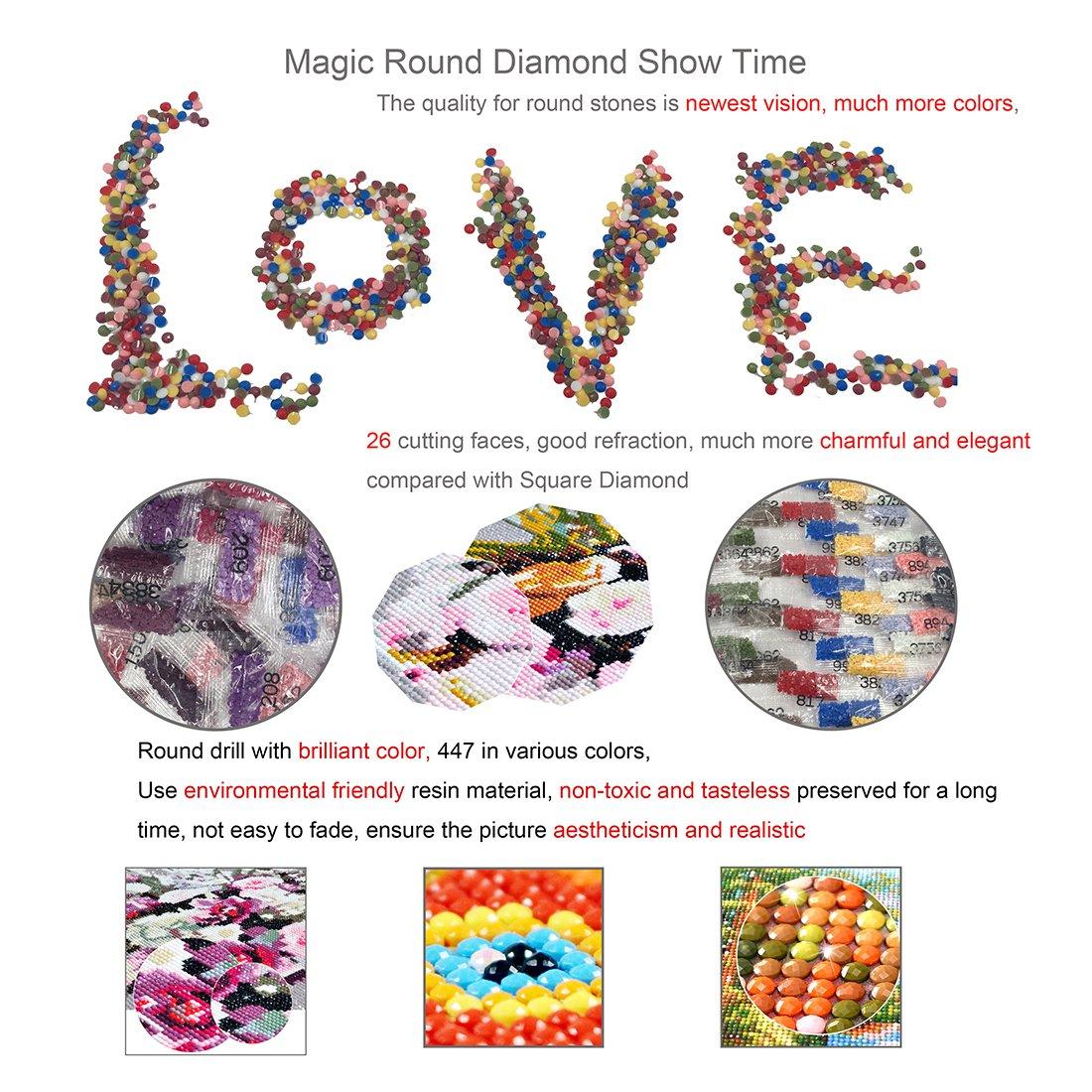 25x30cm Flower 5D diamante pittura kit punto croce ricamo set completo trapano fai da te fatti a mano in resina strass mosaico paesaggio regalo per le feste con attrezzi per incollare