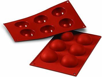 Image ofSF003 Molde de Silicona, 6 cavidades Semi esferas, Color Terracota