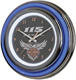 Harley-Davidson 115th Anniversary Neon Clock LED Limited Edition HDL-16637