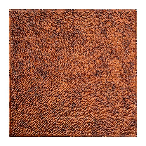 Fasade Easy Installation Border Fill Moonstone Copper Lay In Ceiling Tile / Ceiling Panel (2' x 2' Tile)