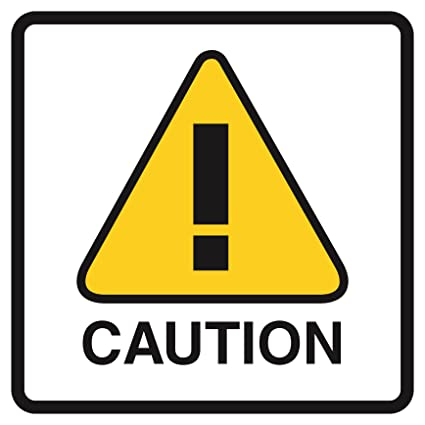 Triangle Road Signs >> Amazon Com 6 Pack Caution Yellow Triangle Notice Picture Road